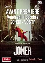 Vendredi 4 octobre : AVANT-PREMIERE : JOKER