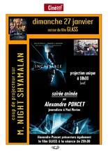 dimanche 27 janvier : INCASSABLE + GLASS et présentation par Alexandre Poncet