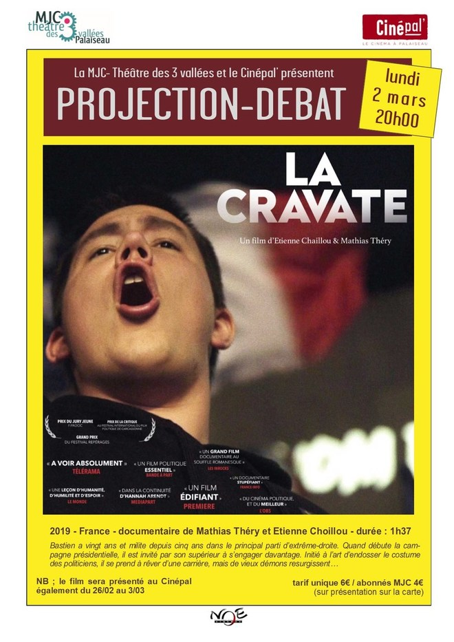 lundi 2 mars : PROJECTION DEBAT