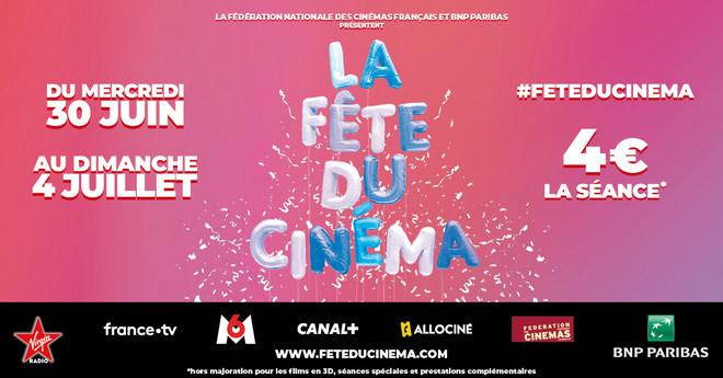 du 30 juin au 4 juillet : LA FETE DU CINEMA
