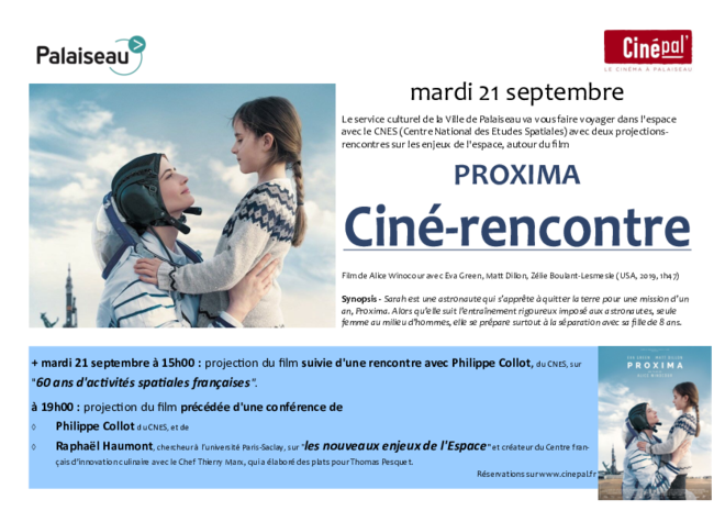 mardi 21 septembre : PROJECTIONS-CONFERENCE