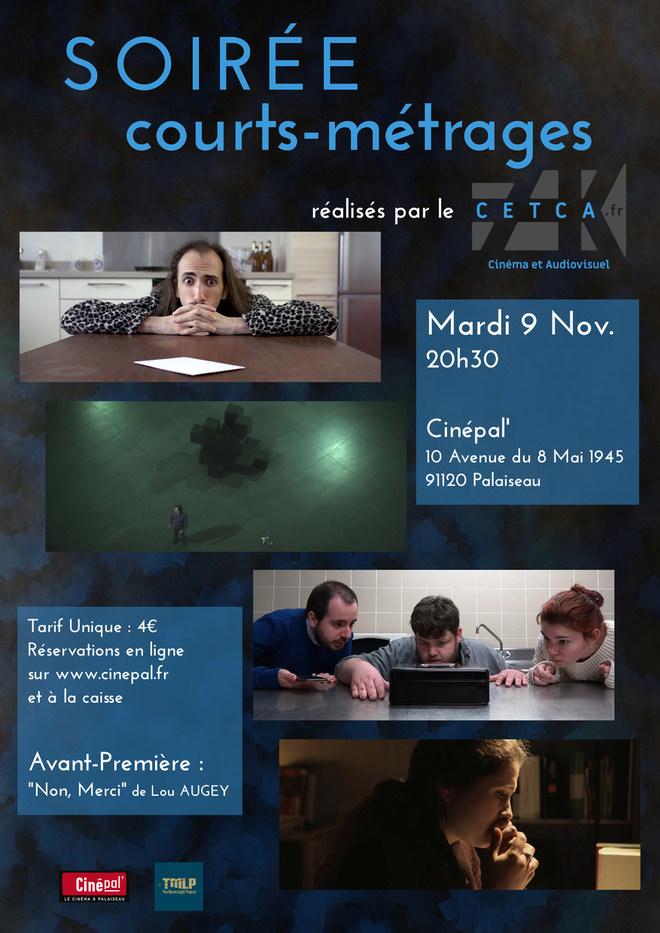 mardi 9 novembre : soirée COURTS-METRAGES
