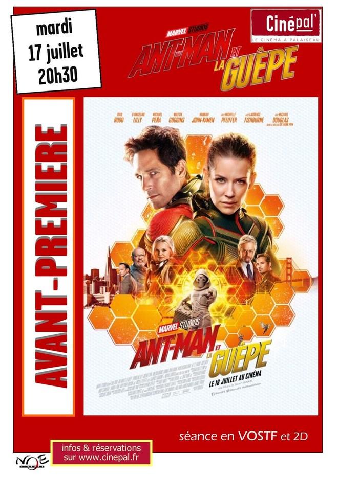 mardi 17 juillet AVANT PREMIERE : Ant-man et la guêpe
